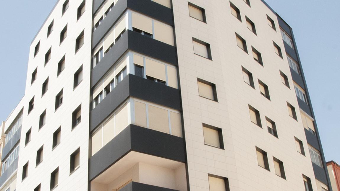 Rehabilitación de fachada de edificio